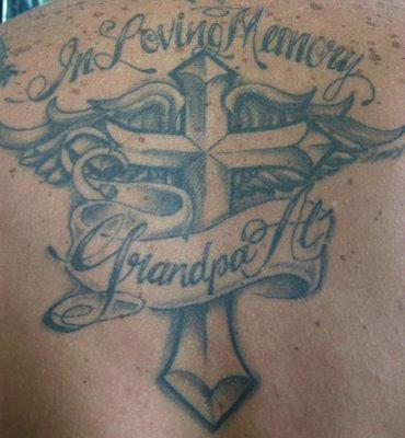 wonderful in loving memory grandpa tattoo design picture tattoomagz. Black Bedroom Furniture Sets. Home Design Ideas
