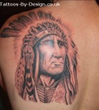 Indian Upper BackTattoo January 2011