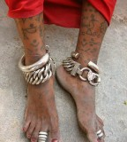 Indian Tattoos in Leg Body Art In India
