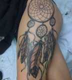 Tatto Design Of Dreamcatcher Tattoos