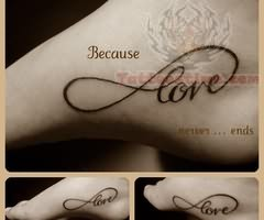 Cool Infinity And Love Sign Themed Tattoo Design Tattoomagz