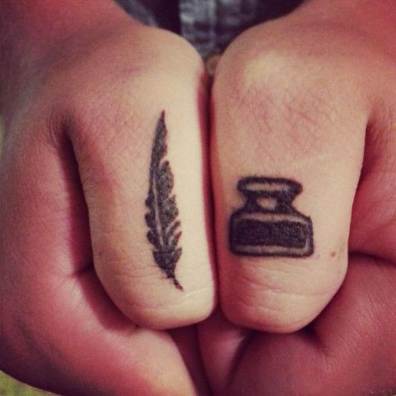 ink and quill tattoos for women