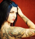 Cute Women with Tattoos on Arm