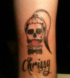 Funny Skull Tattoo Design on Inner Arm