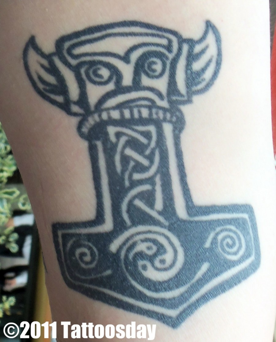 Celtic arm tattoo design for Inner arm tattoos pain