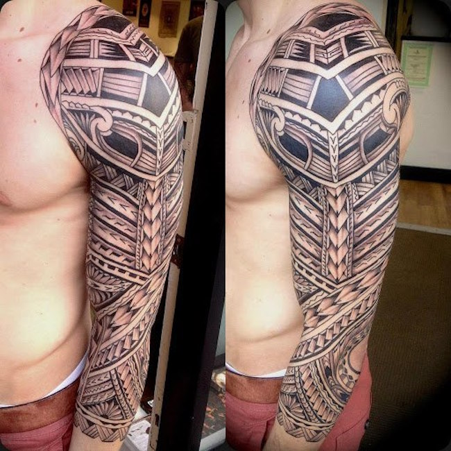 intricate islander tribal tattoo