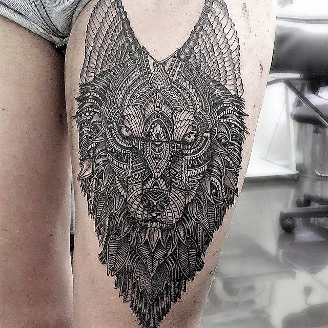 intricate-wolf-tattoos