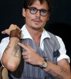 Cool Johnny Depp Tattoos Design on Arm