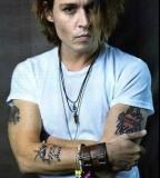 Cool Johnny Depp Arms Tattoo Design