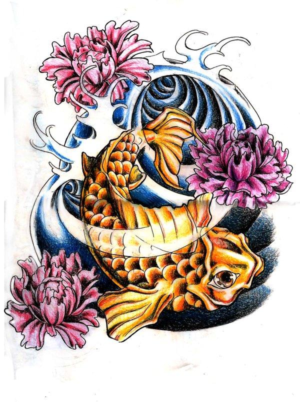 658d3c4eb Koi Fish Tattoo Feminine - TattooMagz