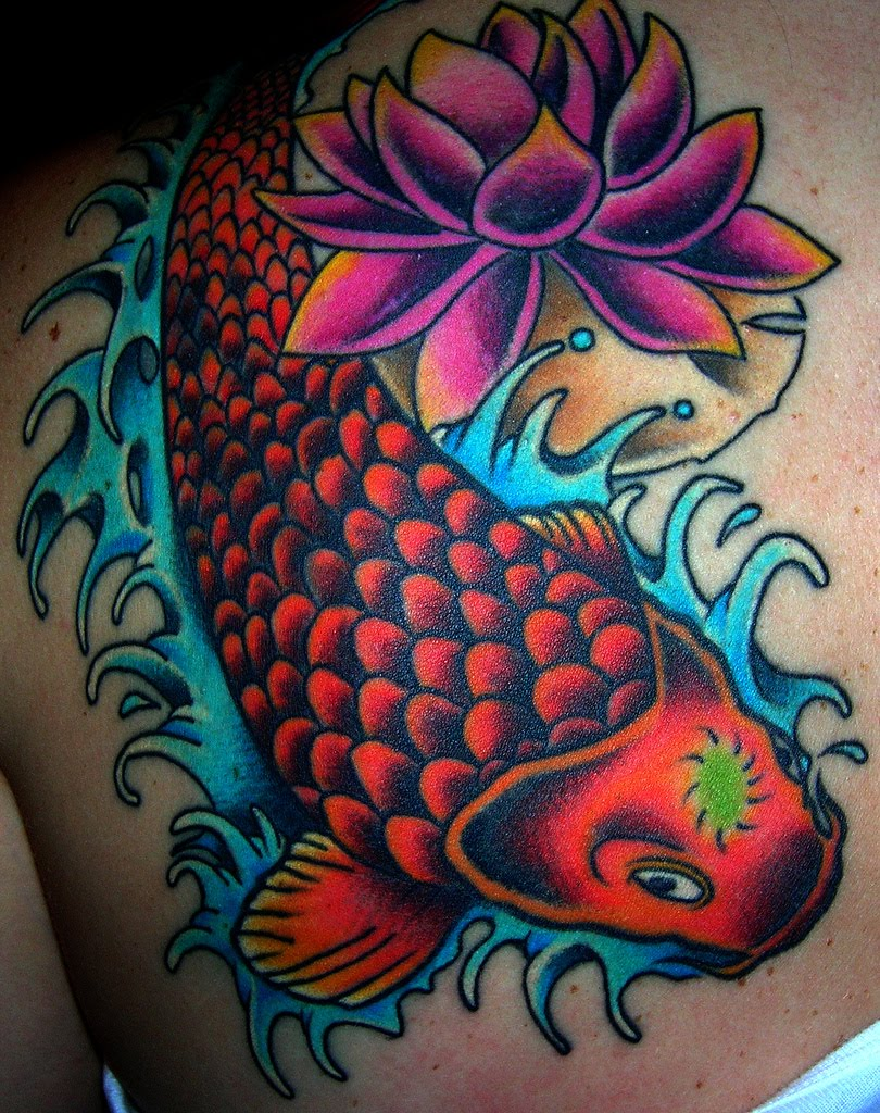 Colorful koi fish tattoo designs for girls tattoomagz for Fish for girls