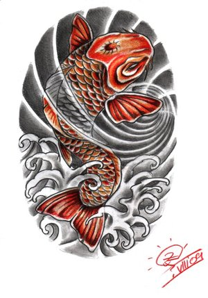 japanese koi fish tattoo designs sketch. Black Bedroom Furniture Sets. Home Design Ideas