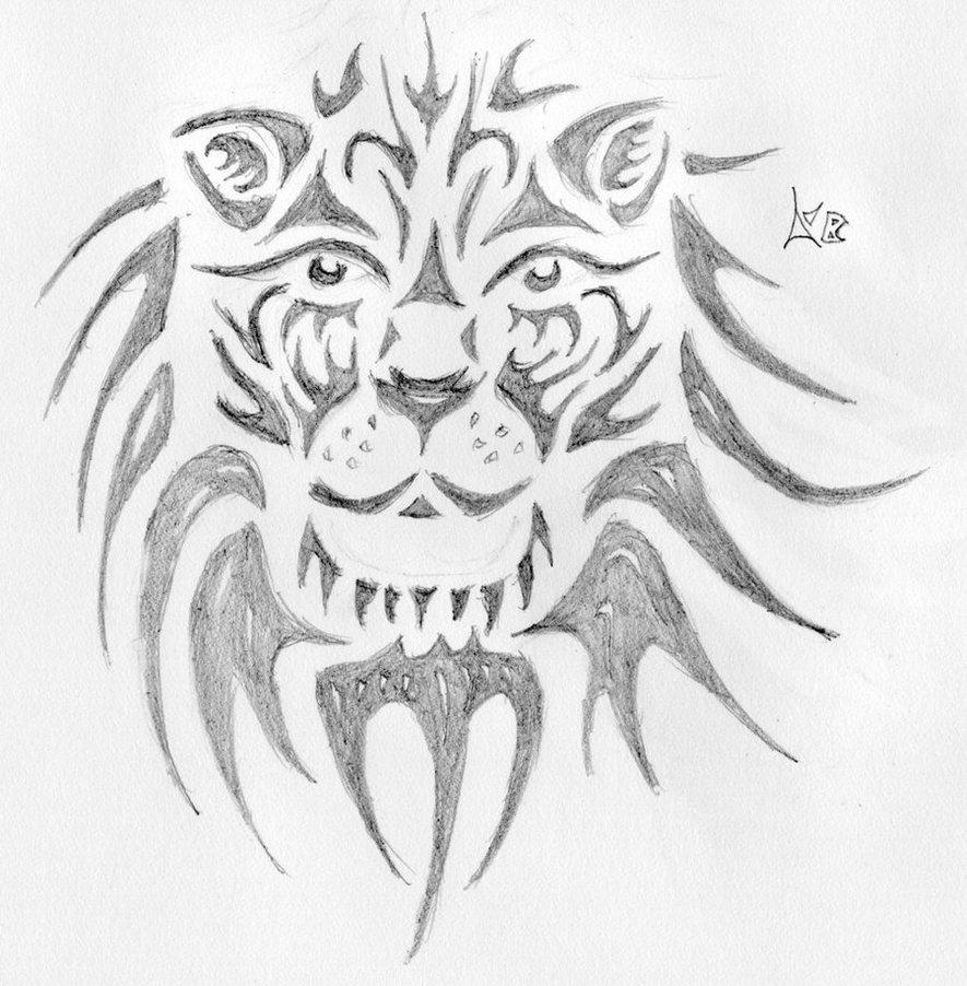 Lion Face Tattoo Sketch Design Tattoomagz