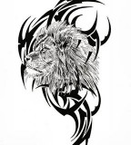 Tribal Lion Tattoo Designs