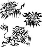 Various Tribal Lion Tattoo Designs Ideas - Tribal Tattoos