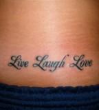 Lower Back Live Laugh Love Tattoo Design Picture