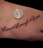 Live Laugh Love Letter Tattoo Design