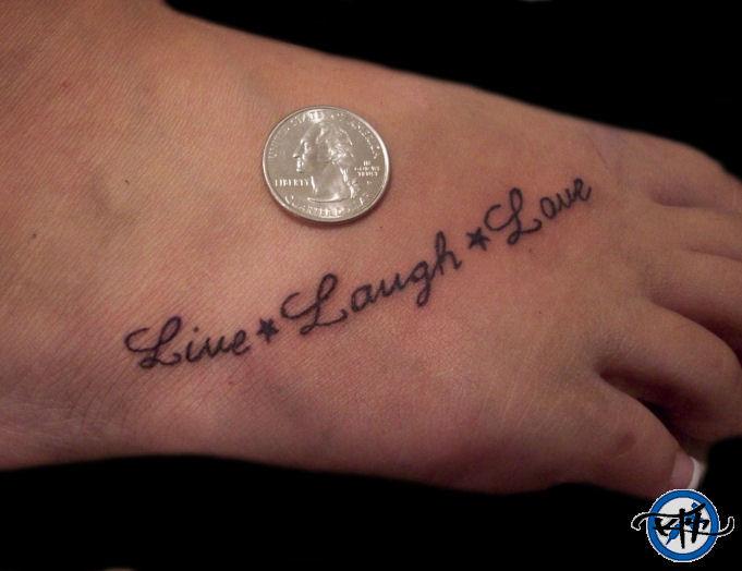 live laugh love letter tattoo design tattoomagz. Black Bedroom Furniture Sets. Home Design Ideas
