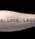 Live Love Laugh Tattoos Design