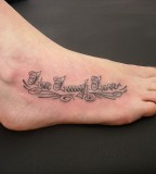 Live Love Laugh Tattoo On Right Instep