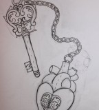 Lock And Key Tattoo Sketch