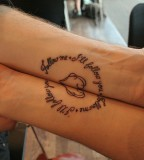 Simple Quotes Love Couples Tattoo