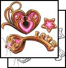 Pink Lock and Key Tattoo Design Ideas