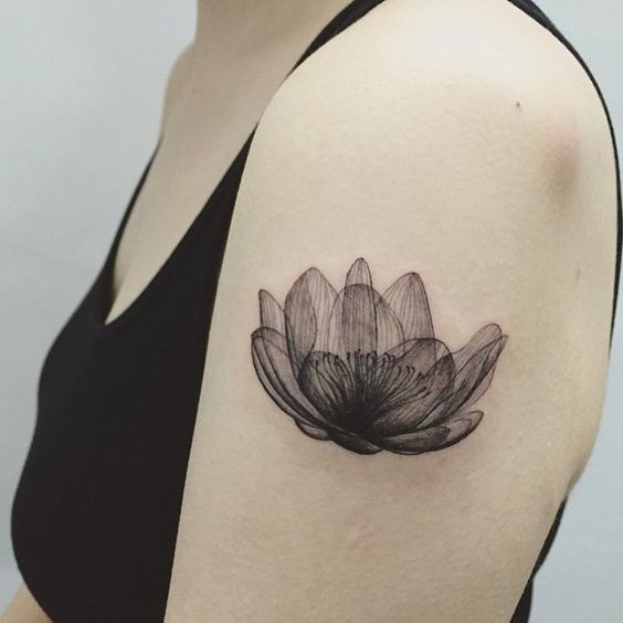 lotus xray flower tattoo