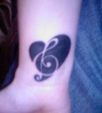 Love Of Music Wrist Tattoo
