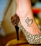 Music Love Foot Tattoo Designs