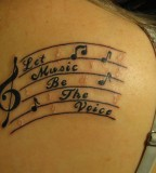 Music Notes Artbody Tattoo