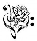 Music, Rose and Love Tattoos