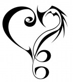 Tribal 9 Music Love Tattoo Sketch