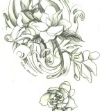 Magnolia Tattoo Design By Endofnonentity On Deviantart