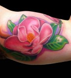 Pink Magnolia Flower Tattoos