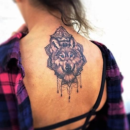 mandala-wolf-tattoos-by-rowell-alfelor