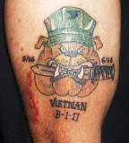 Bulldog Military Tattoo on Arm