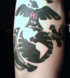 New York USMC Tattoo