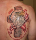 Eagle And Cross Marine Corps Tattoos