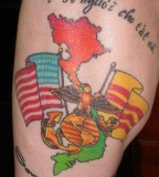 Marine Corps and US Flag Tattoos
