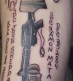 Gun And Quotes Military Tattoos