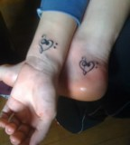 Matching Sister Ankle-Wrist Tattoos