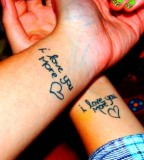 Cute Sister Wrist Tattoos