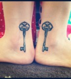 The Couple Key Of Me Ankle Tattoo