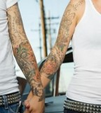 Matching Tattoos on Hands For Couples