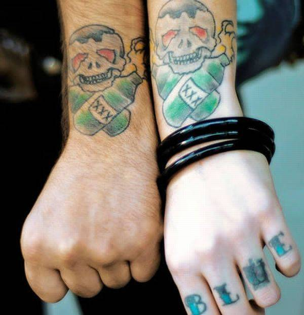 wonderful matching couples tattoo ideas tattoomagz. Black Bedroom Furniture Sets. Home Design Ideas