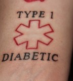 Type 1 My Diabetes Tattoo Alert