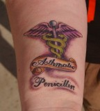Pictures of Photo Medic Alert Tattoo