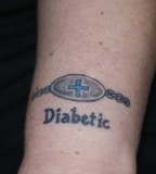 Blue Design Medic Alert Tattoos Pictures