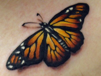 Monarch Butterfly Tattoo On Foot
